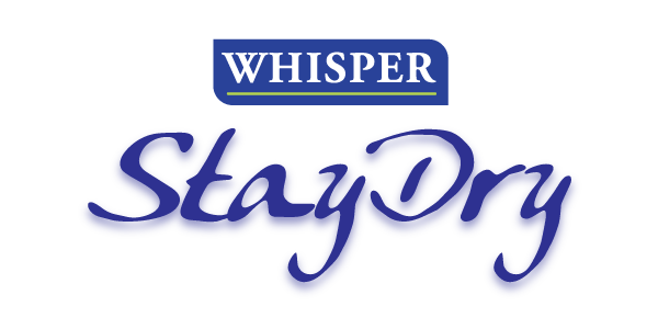 Whisper Stay Dri logo